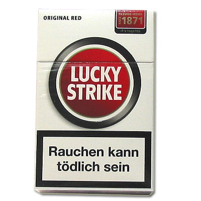lucky strike red zigaretten tabak and more. Black Bedroom Furniture Sets. Home Design Ideas