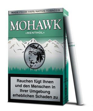 mohawk menthol zigaretten tabak and more. Black Bedroom Furniture Sets. Home Design Ideas