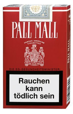 Native American cigarettes Pall Mall United Kingdom