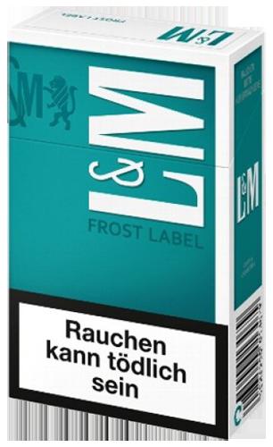 l m frost label zigaretten tabak and more. Black Bedroom Furniture Sets. Home Design Ideas