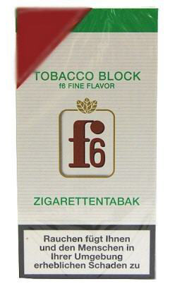 f6 fine flavor tobacco block 2x21g zigarettentabak tabak and more. Black Bedroom Furniture Sets. Home Design Ideas