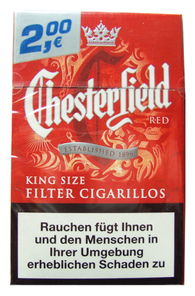Chesterfield Red King Size Filter Cigarillos Zigarillos Tabak