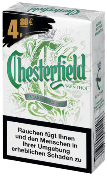 chesterfield menthol zigaretten tabak and more. Black Bedroom Furniture Sets. Home Design Ideas