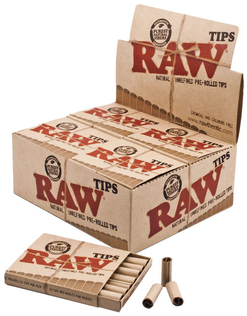 Raw tips prerolled slim size 21 blatt 20er filter for Schneider miltenberg
