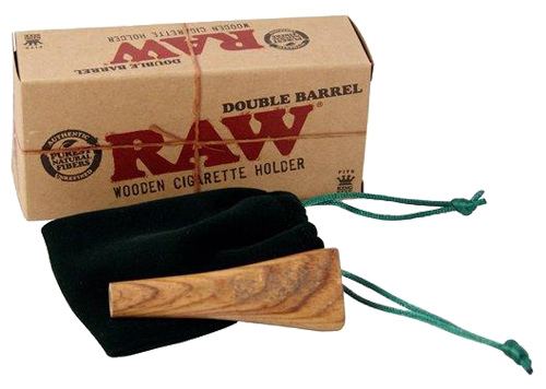 Raw double barrel wooden cigarette holder king size for Schneider miltenberg