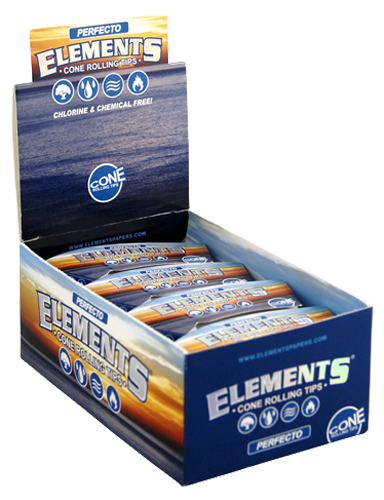 "ELEMENTS® Cone Tips ""Perfecto"" King Size 32 Blatt / 24er (Zigarettenfilter)"