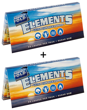 ELEMENTS® Perfect Fold 1¼ Size 50 Blatt / 2er (Zigarettenpapier)