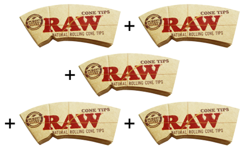 "RAW® Cone Tips ""Perfecto"" King Size 32 Blatt / 5er (Zigarettenfilter)"