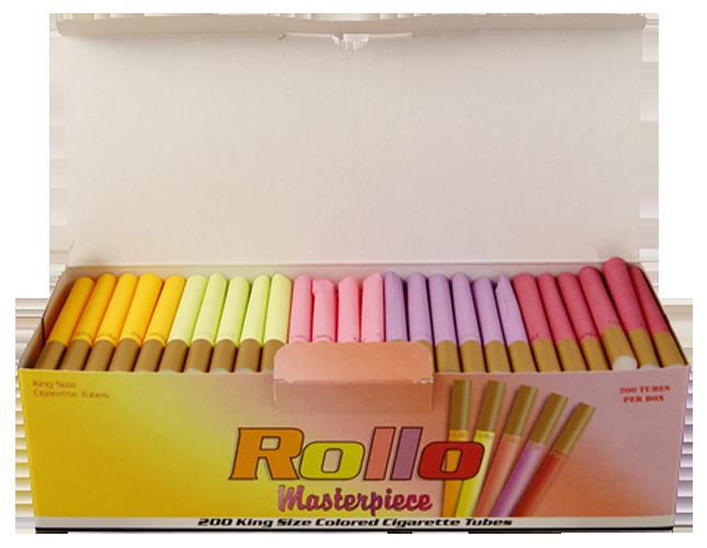 5x200 rollo masterpiece farbig zigarettenh lsen tabak and more. Black Bedroom Furniture Sets. Home Design Ideas
