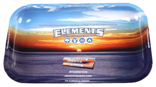 "ELEMENTS® Metal Rolling Tray - ""SMALL"" (Drehunterlage, Metalltablett)"