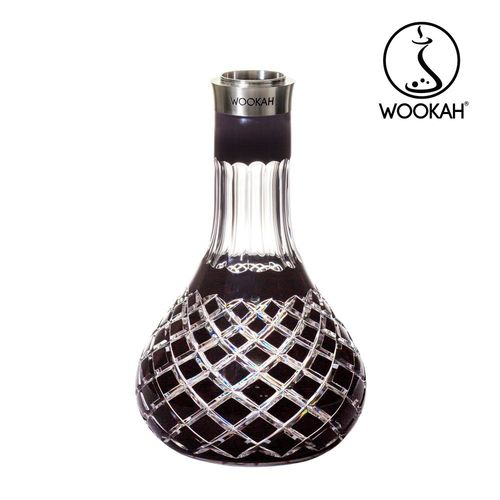 WOOKAH Vase Crystal colour CHECK BLACK (Hookah, Shisha, Wasserpfeife)