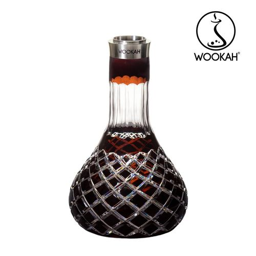 WOOKAH Vase Crystal colour CHECK BROWN (Hookah, Shisha, Wasserpfeife)