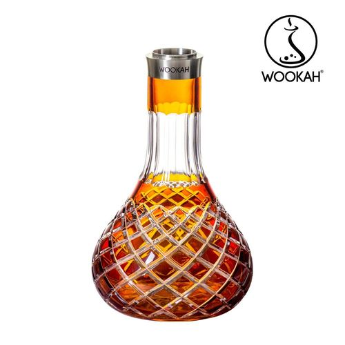 WOOKAH Vase Crystal colour CHECK ORANGE (Hookah, Shisha, Wasserpfeife)